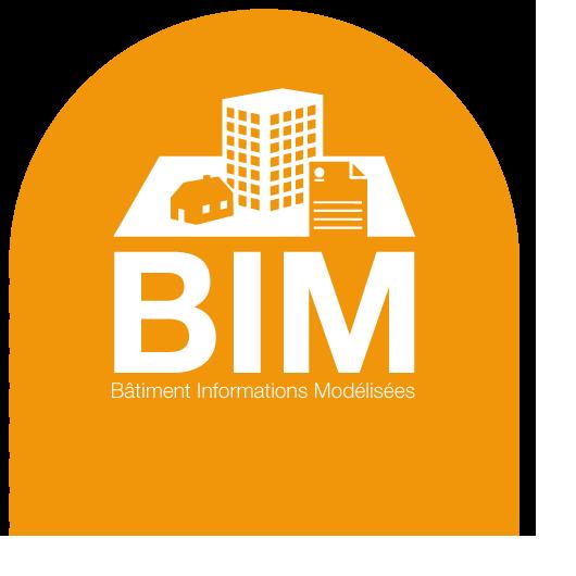 Logo BIM Batiment Information Modelisation
